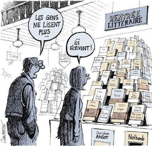 Lidé již nečtou... oni píší.