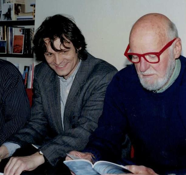 S překladatelem Jiřím Joskem (vlevo) na FSP 1998