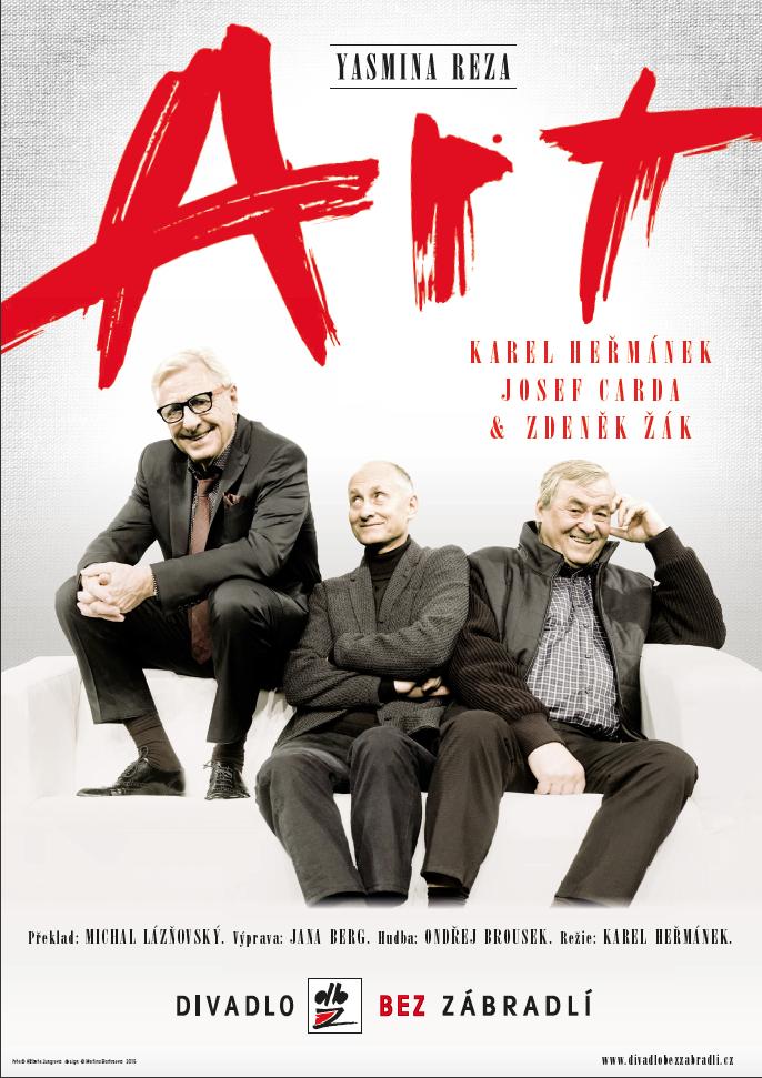 plakát k představení Art (zdroj: Divadlo Bez zábradlí)
