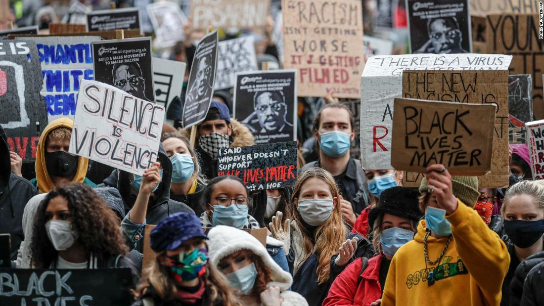 London Black Lives Matter protest. Převzato z portálu Jannah news