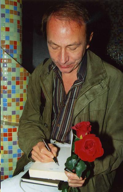 Michel Houellebecq na Festivalu spisovatelů v roce 2005