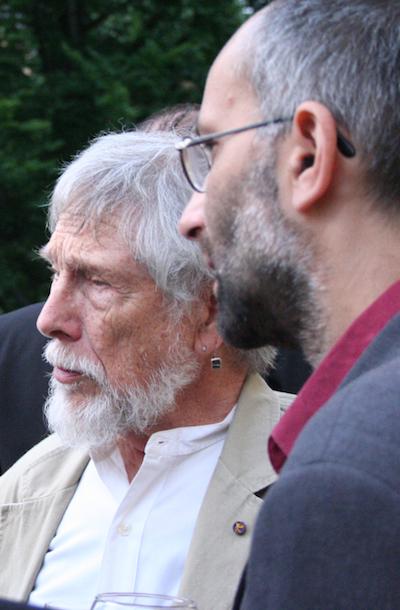 Gary Snyder a překladatel Luboš Snížek, 2007, Praha
