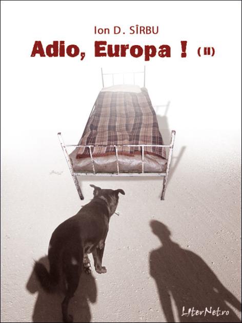 Originální obal knihy Adieu Europa